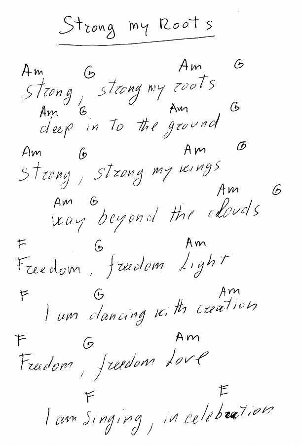 File:Strong My Roots - lyrics and chords.jpg - The Sannyas Wiki