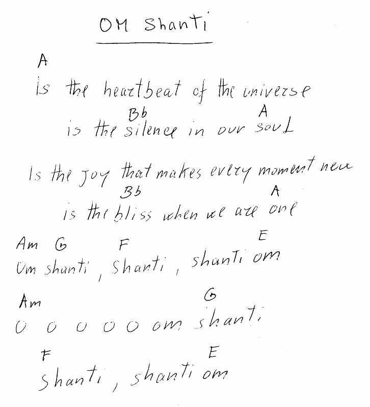File:Om Shanti - lyrics and chords.jpg - The Sannyas Wiki